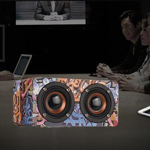 Image 4 - Graffiti Wooden Player Wireless Bluetooth Speaker Desktop Home Audio Street Dance Fashion Audio Stereo Hd Hifi Sounds Devices