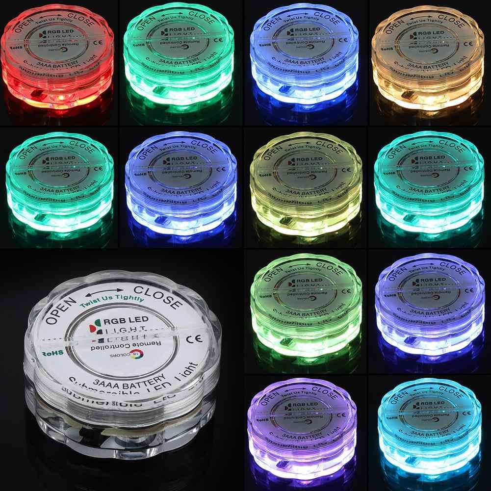 4 шт./компл. светодиодный RGB огни Водонепроницаемый удаленного Управление подводный светильник Свадебная вечеринка ваза украшения