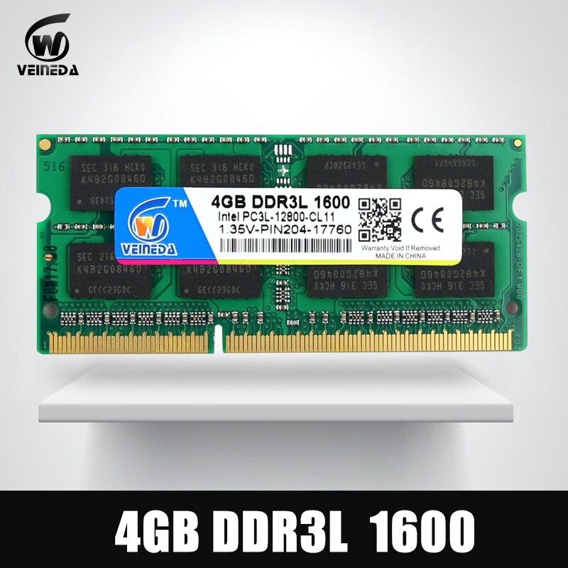VEINEDA DDR3L 4GB 8GB 1333MHz Sodimm Ram DDR 3L 1600 PC3-12800 204PIN Ram Compatible For All Intel AMD ddr3 Motherboard