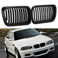 1 Pair For BMW E36 1997 1999 Black Kidney Matte ABS Plastic Front 3 Series Right Left Side Grilles 1997 1999 M3