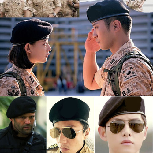 e69cc07b8eb Unisex Military Army Soldier Beret Hat Wool Men Women Adjustable Uniform Cap  Men s Accessories