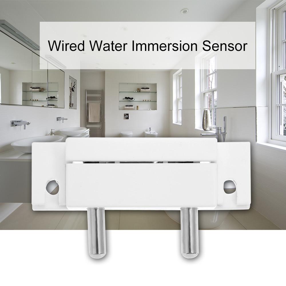Sensor de imersão de água com fio, alarme de sobrefluxo, interruptor de sonda para casa, sistema de alarme de segurança
