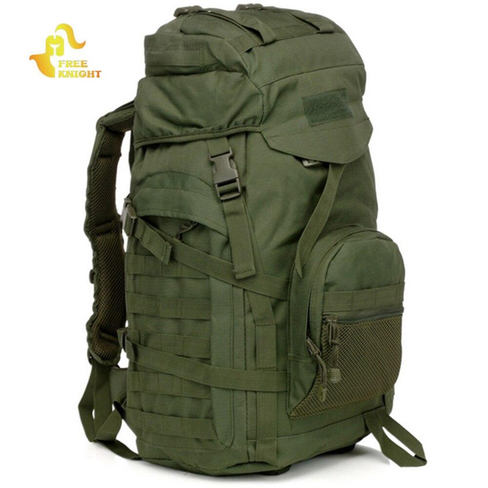 Chevalier gratuit en plein air étanche 60L sac multifonctionnel sac à dos tactique avec couverture de pluie pour randonnée Camping sac à dos tactique