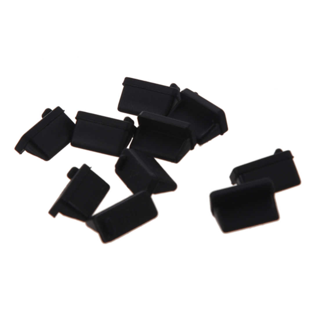 10 Pcs Silikon Port USB Plug Dustproof Plug Sumbat Perlindungan Hitam-Hot