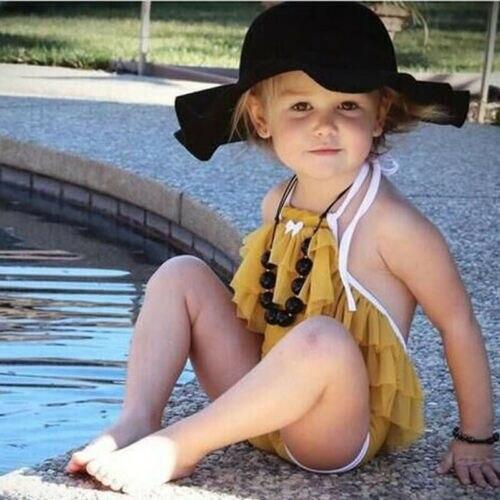 2019 Kleinkind Bikini Badeanzug Kind Baby Mädchen Halter Layered Sommer Kinder Bademode Schwimmen Kostüm Schwimmkleidung Babykleidung Mädchen