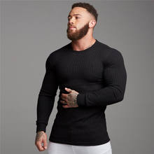Warme Herbst Winter Kühle Mens Slim Fit Oansatz Gestrickte Schwarz Grau Pullover Hübscher Jungen Langarm Muscle Strickwaren Casual Pullover(China)