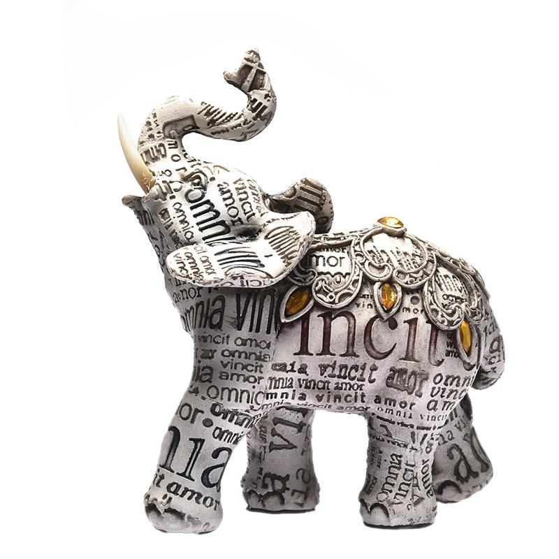 6x12x14cm Creative Artificial Diamond Elephant  Figurines Gift Home Garden Decor Decoration