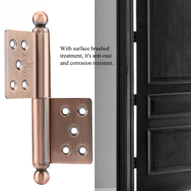 Impartial 2pcs/set Stainless Steel Door Hinge Ball Bearing Replacement Door Hinge Home Door Furniture Hardware Accessories
