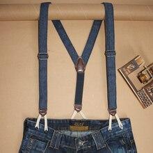 Женские модные джинсовые подтяжки для джинсов на пуговицах смокинг Y Back брюки на подтяжках подтяжки для мужчин tirantes hombre para pantalones