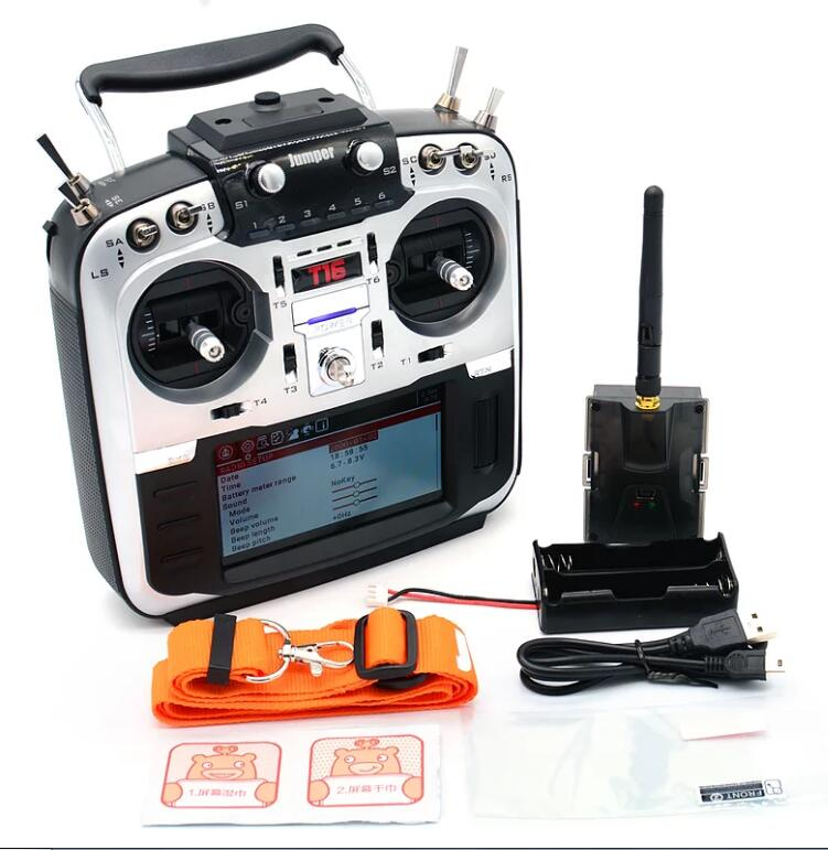 "En stock! Jumper T16 Open Source multi-protocole émetteur Radio JP4-in-1 Module RF 2.4G 16CH 4.3 ""LCD pour Drone de course FPV"