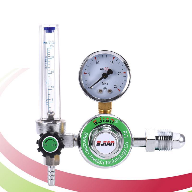 Argon Flow Meter Decompression Table Pressure Reducing Valve External Thread Copper Connection G5 / 8 Thread