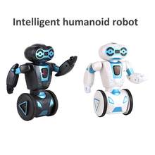 Intelligent Humanoid Robot Remote Control Robot Intelligent Self-balancing Toy 5 Operation Mode Machine Dog Pet Electronic Toy(China)