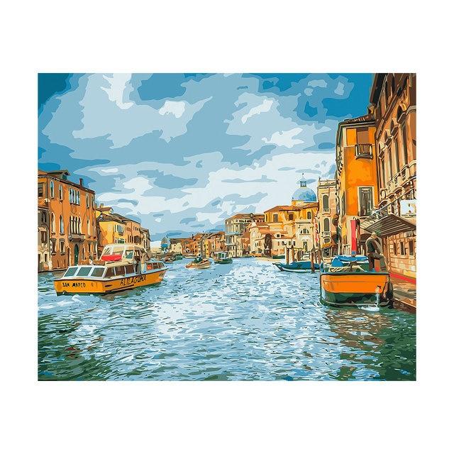 """Картина по номерам на холсте Фрея """"Прогулка по Венеции"""", 50х40 см"""