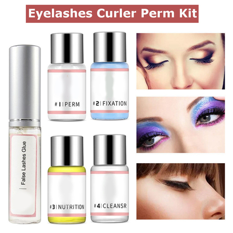 7Pcs/Set Eyelash Wave Lotion Curling Perm Curler Kit Eye Lashes Lift Liquid Makeup Tool Women Eyes Makeup Beauty Accessories New Lahore