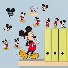 Removable Cartoon PVC Wallpaper for Bedroom Decor Mickey Mouse Wall Sticker Minnie Stickers Kids Rooms
