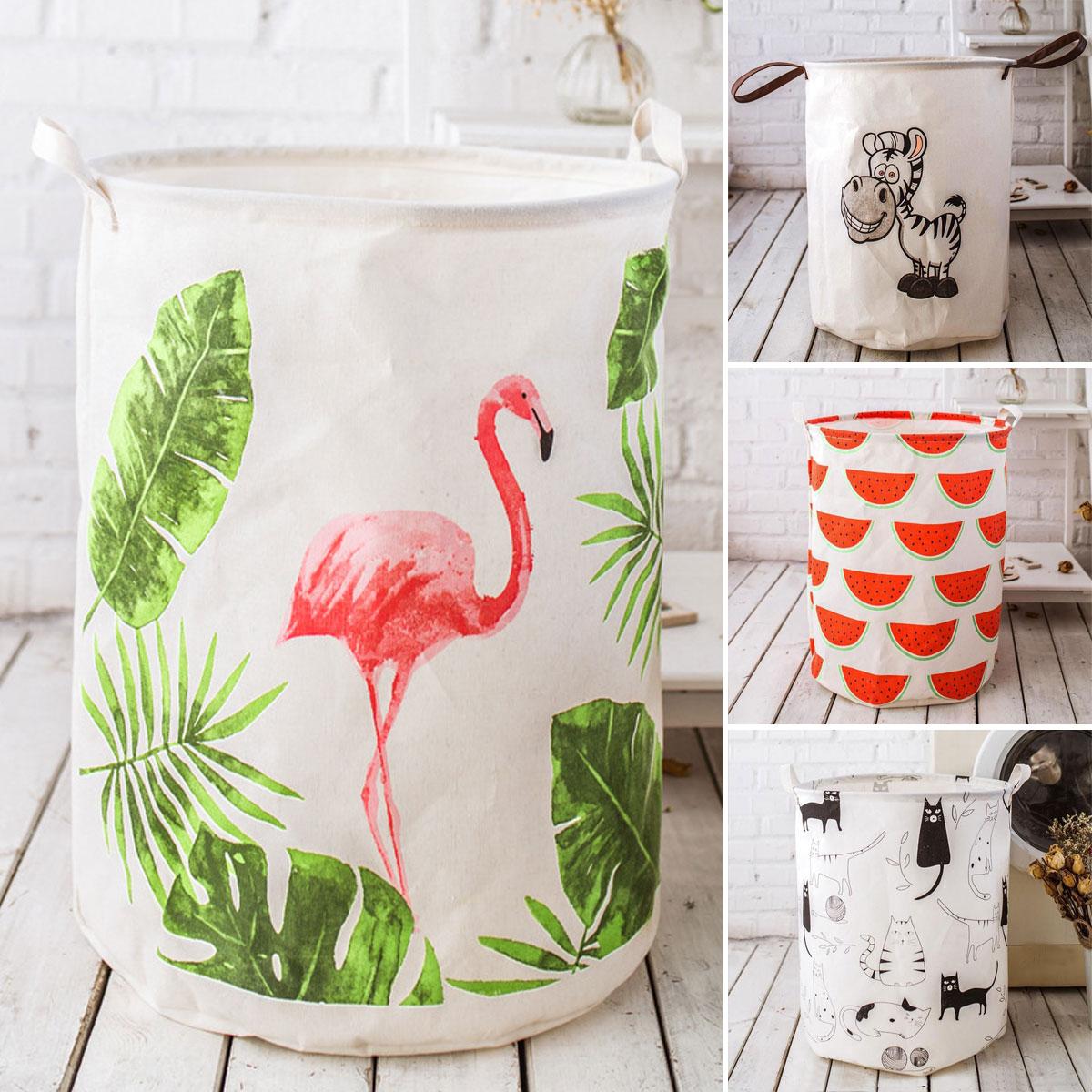 Ev ve Bahçe'ten Çamaşır Sepetleri'de Katlanır çamaşır sepeti karikatür depolama varil ayakta oyuncaklar kıyafet dolabı kova çamaşır organizatör tutucu çantası ev