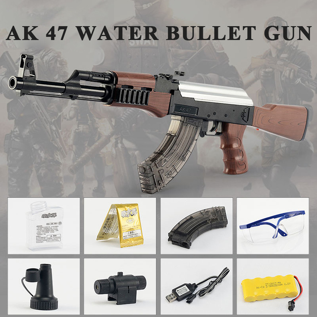Offre spéciale AK 47 jouet pistolet pistolet pistolet 400 pièces eau absorber balle 3 pièces balle molle mousse balle Orbeez pistolet à eau Airgun jouets