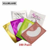 GLAMLASH 100 Pares premium Nova Extensão Dos Cílios Under Eye Gel Patches Papel Pad Dicas Sticker Wraps Enxertadas Olho maquiagem Chicote ferramenta