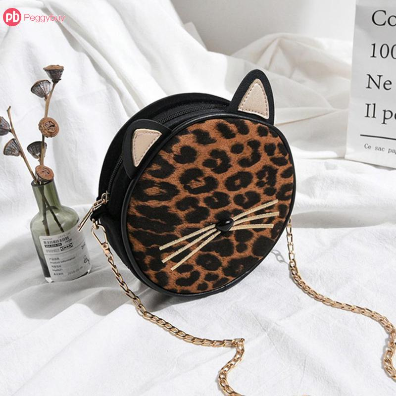 Detail Feedback Questions about Leopard Round Fashion Shoulder Bags Leather  Chain Sling Crossbody Bag For Women bolso leopardo Retro Ladies Bolsa  Feminina ... a8d197a329cd5