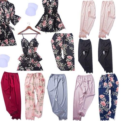 Damen-nachtwäsche Hirigin Frauen Nachtwäsche Seide Satin Pyjamas Dame Nacht Pyjama Nachtwäsche Loungewear Homewear Kleid Schlaf Bottoms Extrem Effizient In Der WäRmeerhaltung