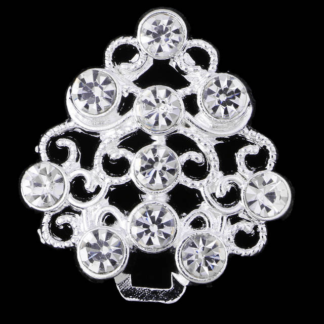 737afa7f32 fityle 1 Pair Hollow Flower Crystal Rhinestone Sewing Closure Hook & Eye  Collar Button Belt Buckle Clothes Coat Sewing Craft