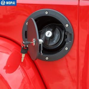 Image 5 - Mopaiタンク用カバージープラングラーjk 2007 2017 石油燃料タンクキャップとキーロックのためのジープラングラーjk車アクセサリー