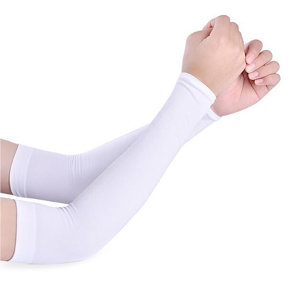 1 Pair Men Women Arm Warmers Summer Arm Sleeves Sun UV Protection outdoor Drive Sport Travel Arm Warmers White Black Arm Cover