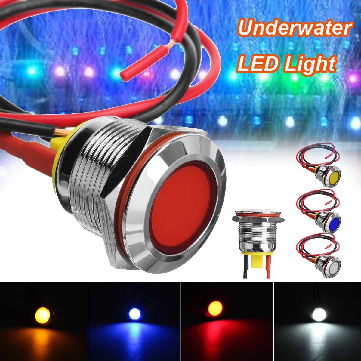 Lights & Lighting 1pc Dc 6v 19mm Ip67 Boat Light Waterproof Underwater Led Light Yellow/red/blue/white Swimming Pool Pond Led Underwater Lights