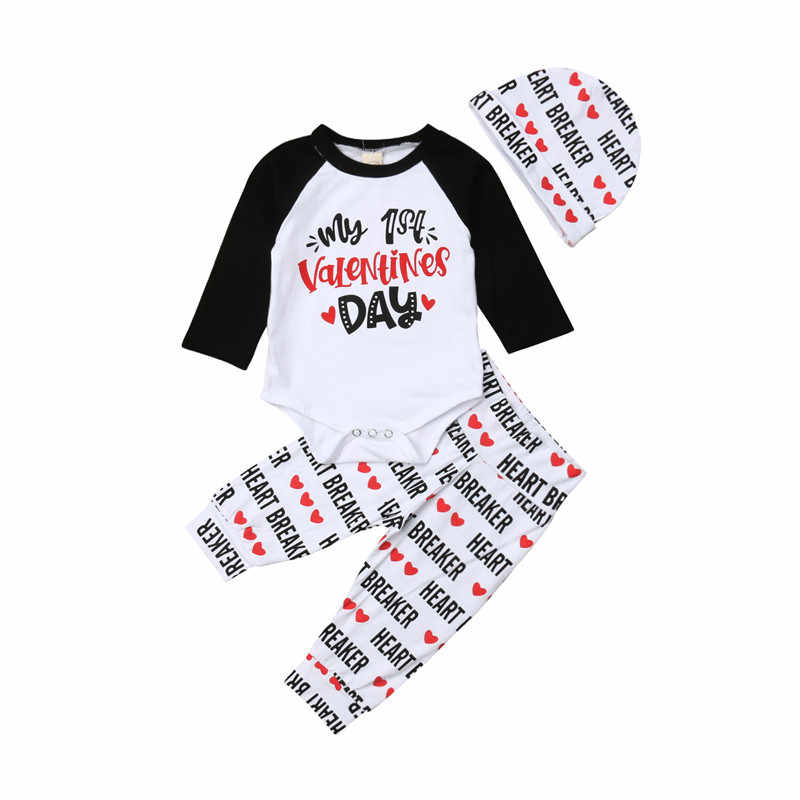 abf9bee323e61 Detail Feedback Questions about Infant Newborn Baby Boy Girl Clothes Set  Autumn Long Sleeve Letter Valentine Day Bodysuit Top Pants Hat Outfit  Tracksuit ...