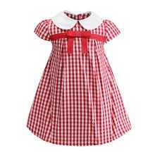 Funfeliz Spring Summer Kids Dresses for Girls Plaid Bow Cotton Little Girl Dress 2019 New A Line Dress Girl Children Clothes