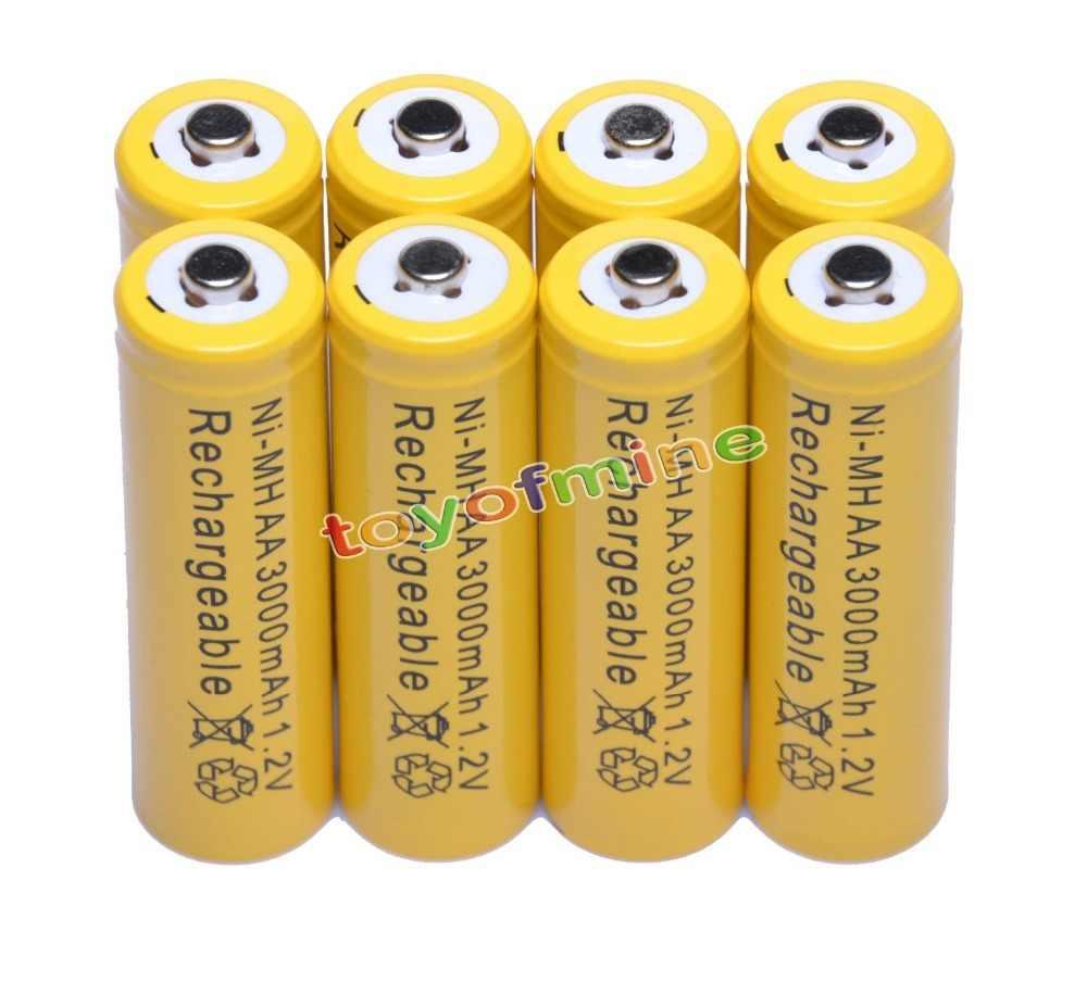 4-24 шт/партия Новый бренд AA 3000 mAh AAA 1800 mah 1,2 V перезаряжаемая батарея для дистанционного управления игрушечная лампа батарея Бесплатная доставка
