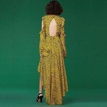 فستان تايجر موديل جرئ بأكمام طويلة وكرانيش