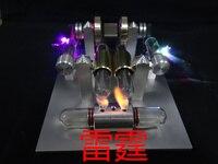 Sterling паровой двигатель мини генератор металлический внешний двигатель сгорания подвижная модель игрушки коллекция подарок Бесплатная дос