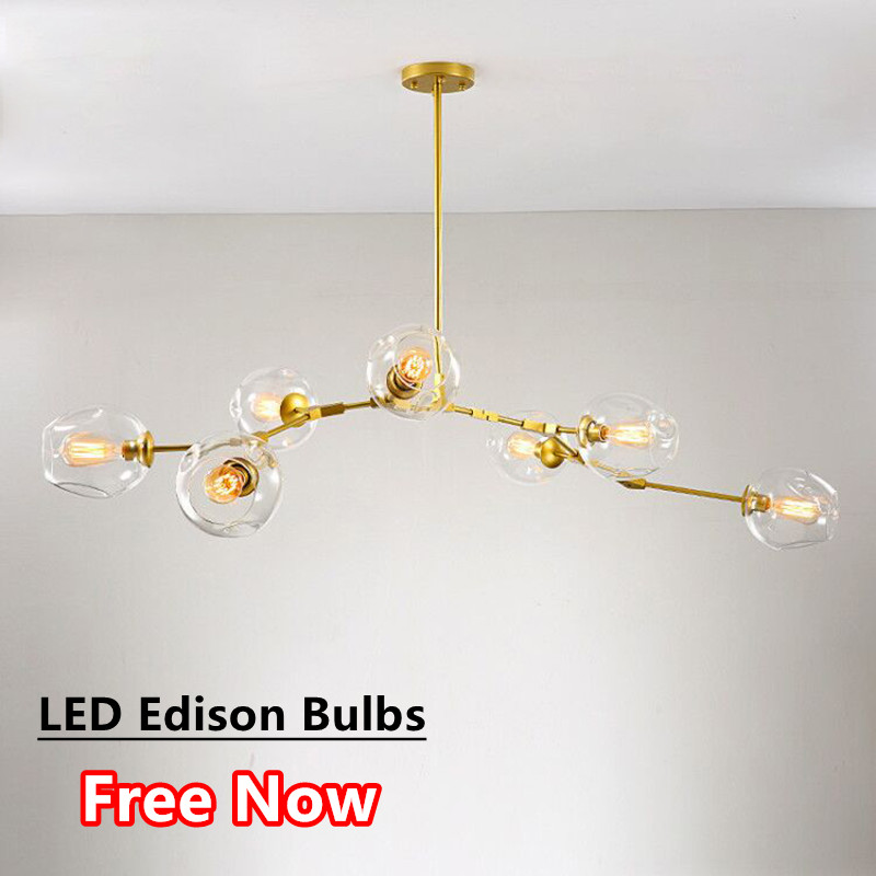 Art Deco Branch Chandelier Lighting Fixtures For Living Dining Room Lustre Led Luminaria Chandeliers With E27 Led Edison Bulb Good For Antipyretic And Throat Soother