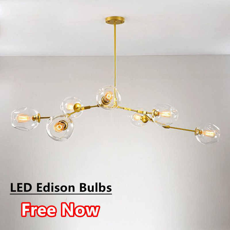 Art Deco Branch Chandelier Lighting Fixtures For Living Dining Room Lustre Led Luminaria Chandeliers With E27