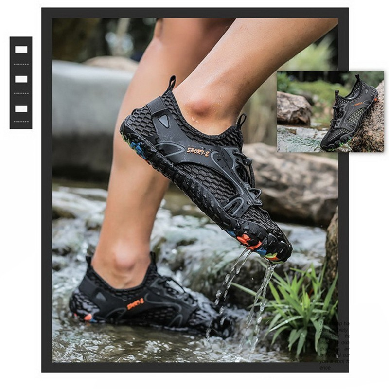Image 3 - VEAMORS Outdoor Sneakers Non slip Hiking Shoes For Men Women Walking Trekking Sneakers Unisex Breathable Mesh Upstream ShoesHiking Shoes   -