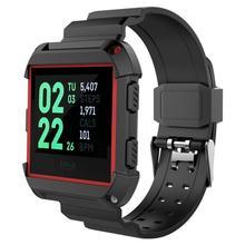 Силиконовые Мягкие спортивный ремешок для наручных часов ТПУ упругой дышащий Замена ремень Легкий Прочный запястье браслет для умные часы