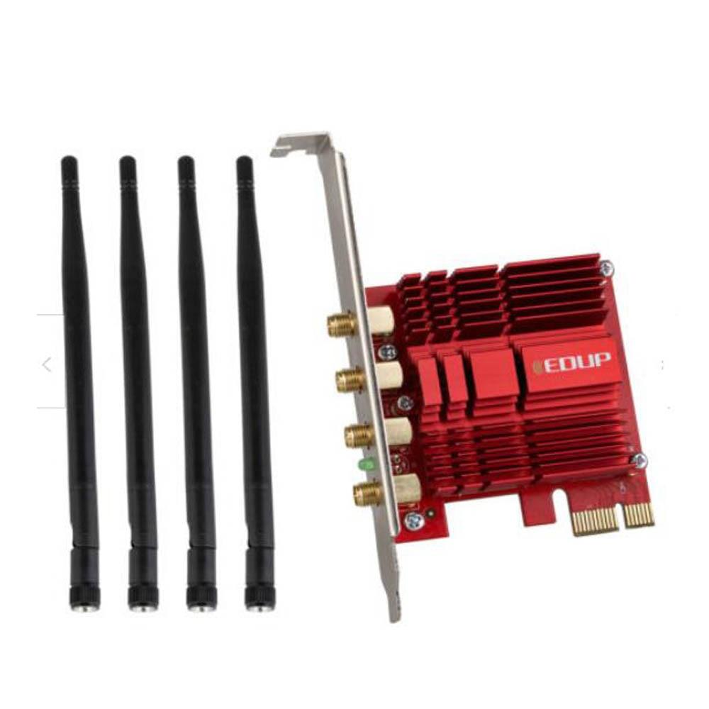 EDUP 2.4/5 Ghz double bande 1900 Mbps PCI Express adaptateur WiFi sans fil 802.11AC carte réseau PCI-E antennes 4 * 5dBi pour Win 7/8. 1/10 - 5