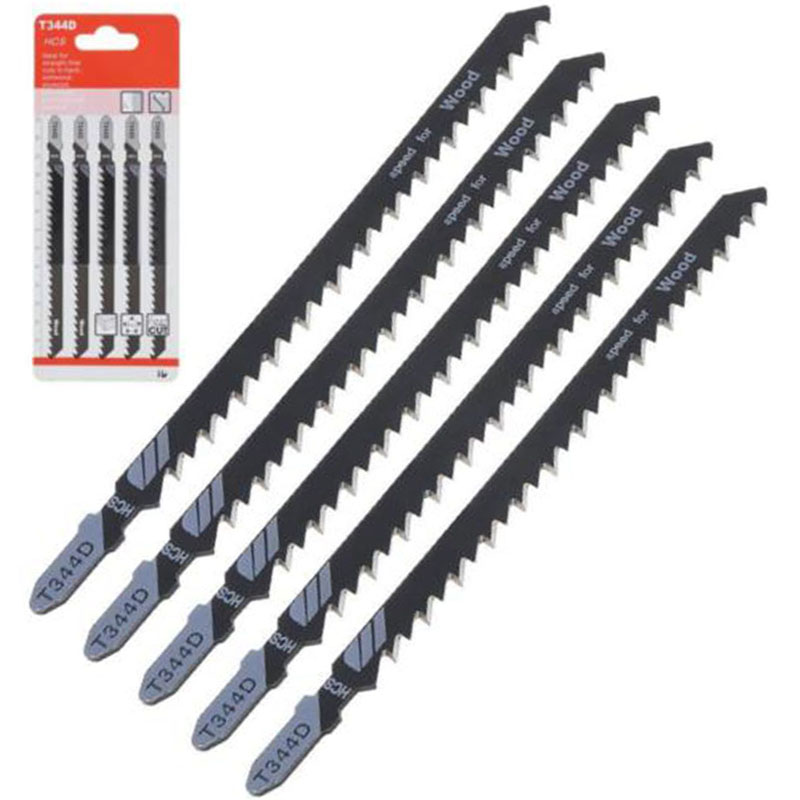 """עגלות פג 152 מ""""מ / 5.98 T344D 6T T-Shank Jigsaw להבים קאטר HCS חדש עבור עץ חיתוך כלי בית DIY תעשייתי קישוט (3)"""
