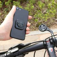 Bicicleta da bicicleta do telefone móvel adesivo montar suporte do telefone equitação forte adesivo suporte voltar botão colar adaptador para garmin|Suporte p/ celulares| |  -