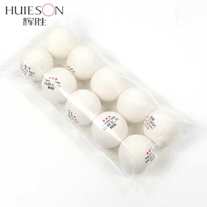HUIESON 10pcs/Bag 3 Star New Material Table Tennis Ball D40+mm 2.8g ABS Plastic Ping Pong Balls Table Tennis Training Ball