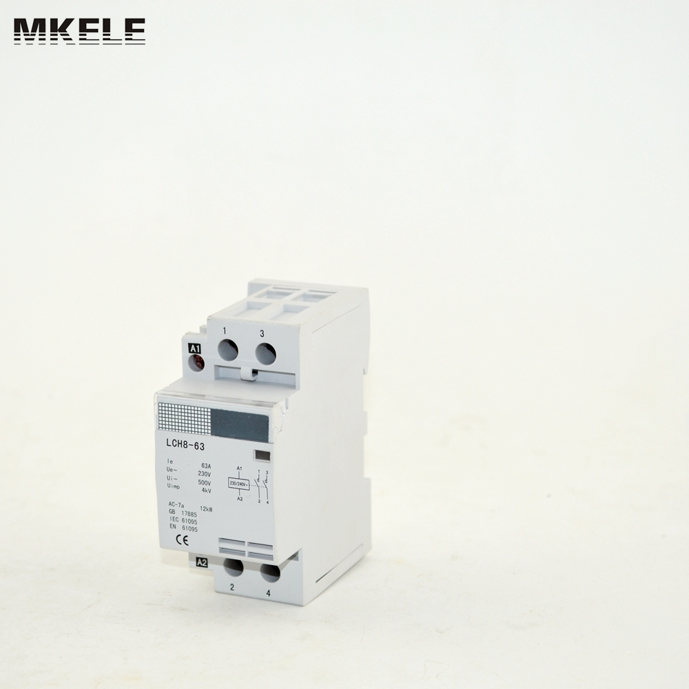 reliable certified single phase electrical contactor MK-HAC8-63 63A 2P 2NOreliable certified single phase electrical contactor MK-HAC8-63 63A 2P 2NO