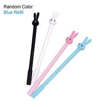 4pcs creative rabbit kawaii neutral pen cute rabbit header 0.38mm school supplies office stationery erasable gel pen