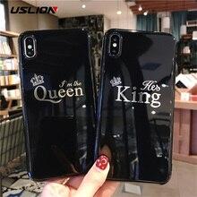 USLION Cartoon Crown Phone Case For iPhone