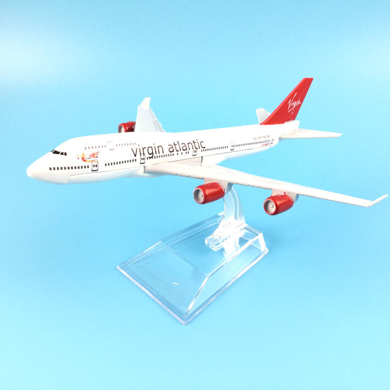 16cm Plane Model Airplane Model Virgin Atlantic Boeing 737 Aircraft Model 1:400 Diecast Metal Airplanes Plane Toy Gift
