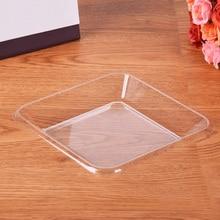 100 шт прозрачный поднос одноразовый Премиум лоток для свежих фруктов для кофейного стола, завтрака, чая, еды, дворецкий для использования на домашней кухне