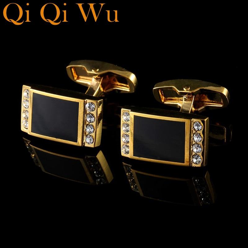 2017 Luxury shirt cufflinks men/'s buttons Gold cuff links wedding Jewelry Gift