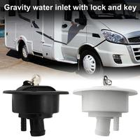 RV Modified Gravity Water Inlet with Lock Key Water Tank Inlet Hatch Camper Trailer RV Lock Door 2019