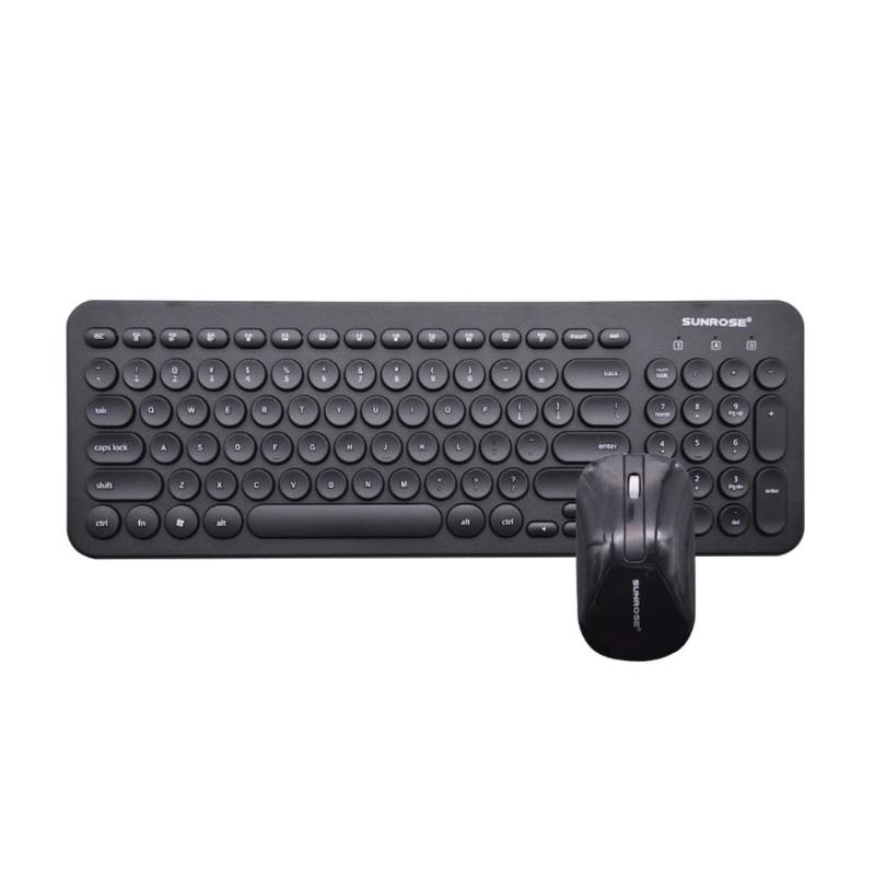 Sunrose T85 2.4Ghz Splashproof 104 Keys Wireless Keyboard & Mouse Set For Home Office Computer Game Keyboard And Mouse Combos