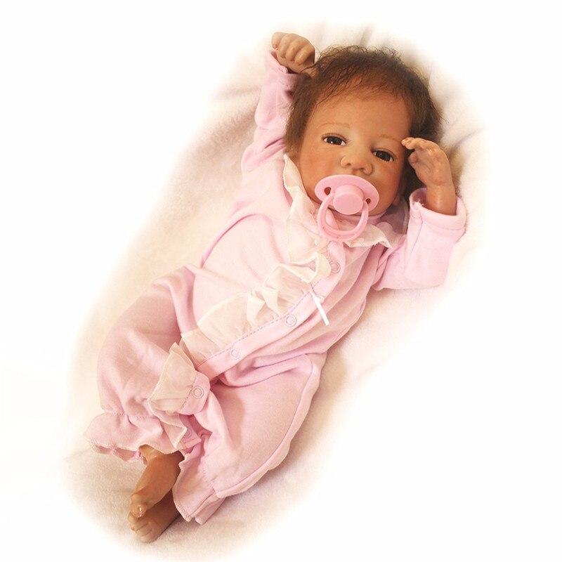 Otarddoll Boneca Reborn 18 pouces poupée 45 cm Silicone souple Reborn bébé poupée nouveau-né réaliste Bebe Reborn poupées filles cadeau d'anniversaire